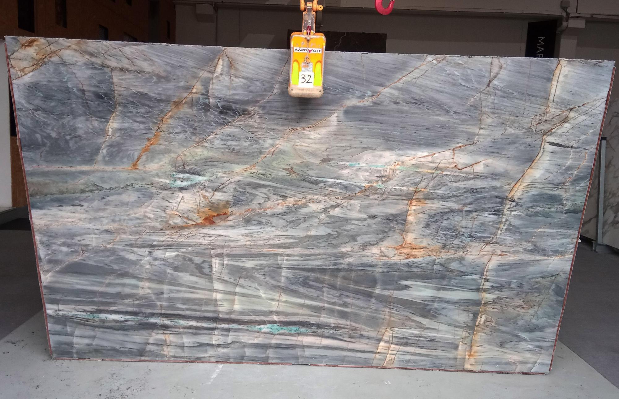 BRITA BLUE Suministro Veneto (Italia) de planchas pulidas en cuarcita natural Z0359 , Slab #32