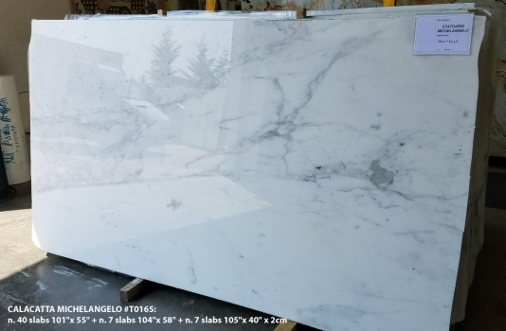 CALACATTA MICHELANGELO Suministro Verona (Italia) de planchas pulidas en mármol natural AA T0165