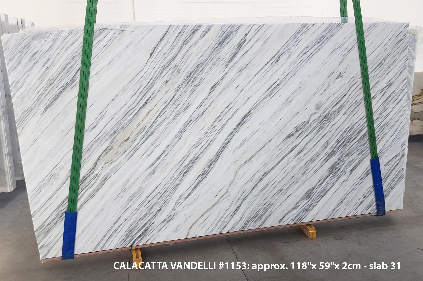 Calacatta Vandelli Suministro (Italia) de planchas pulidas en mármol natural 1153 , Slab #31