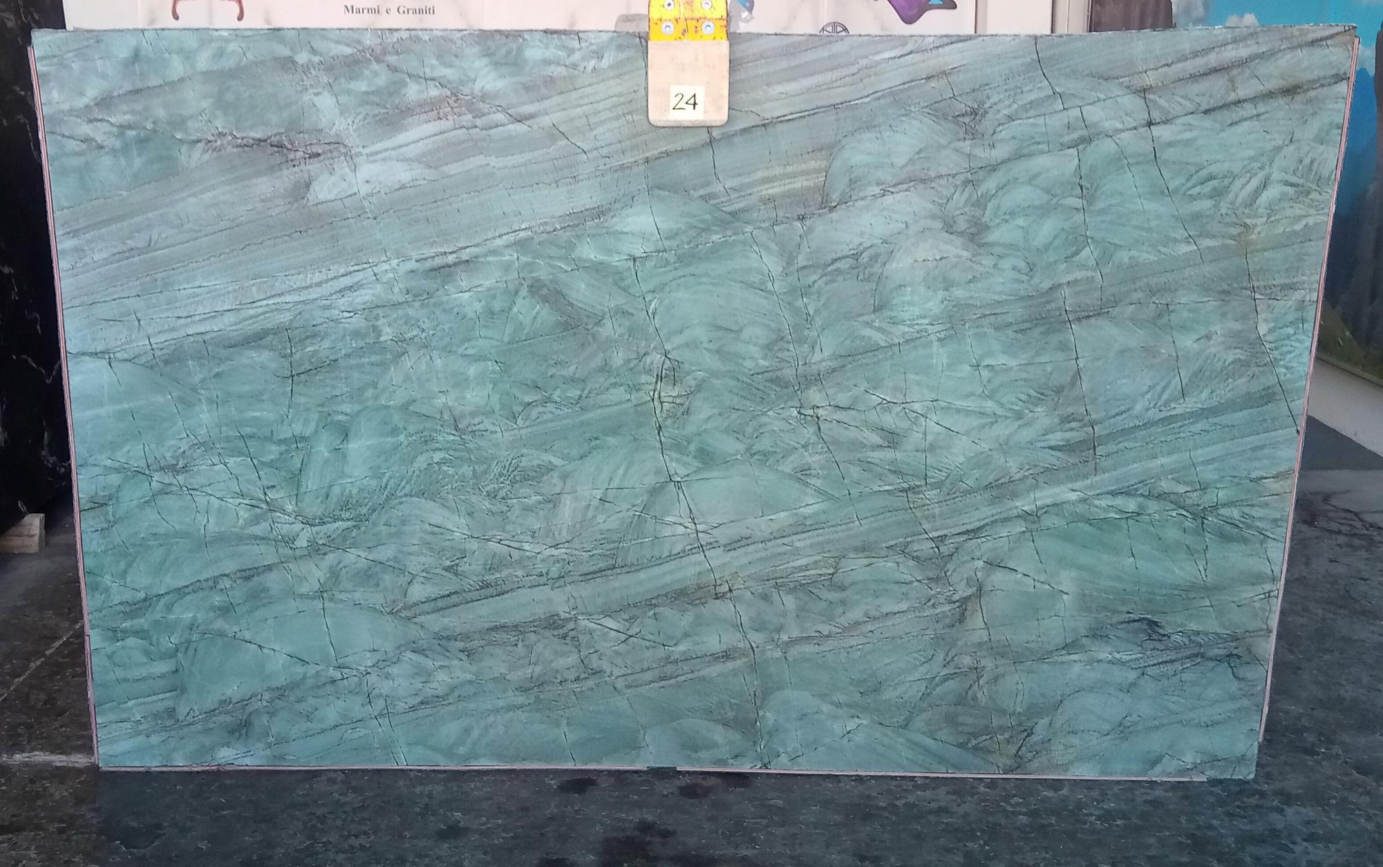 EMERALD GREEN Suministro Veneto (Italia) de planchas pulidas en cuarcita natural Z0209 , Slab #24