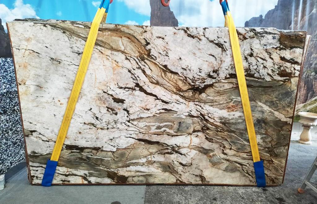 FUSION MISTIC Suministro Veneto (Italia) de planchas pulidas en cuarcita natural U0113 , Slab #40