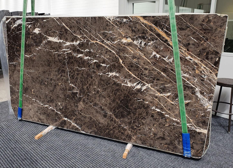 MARRON IRIS Suministro Veneto (Italia) de planchas pulidas en mármol natural 1404 , Slab #18
