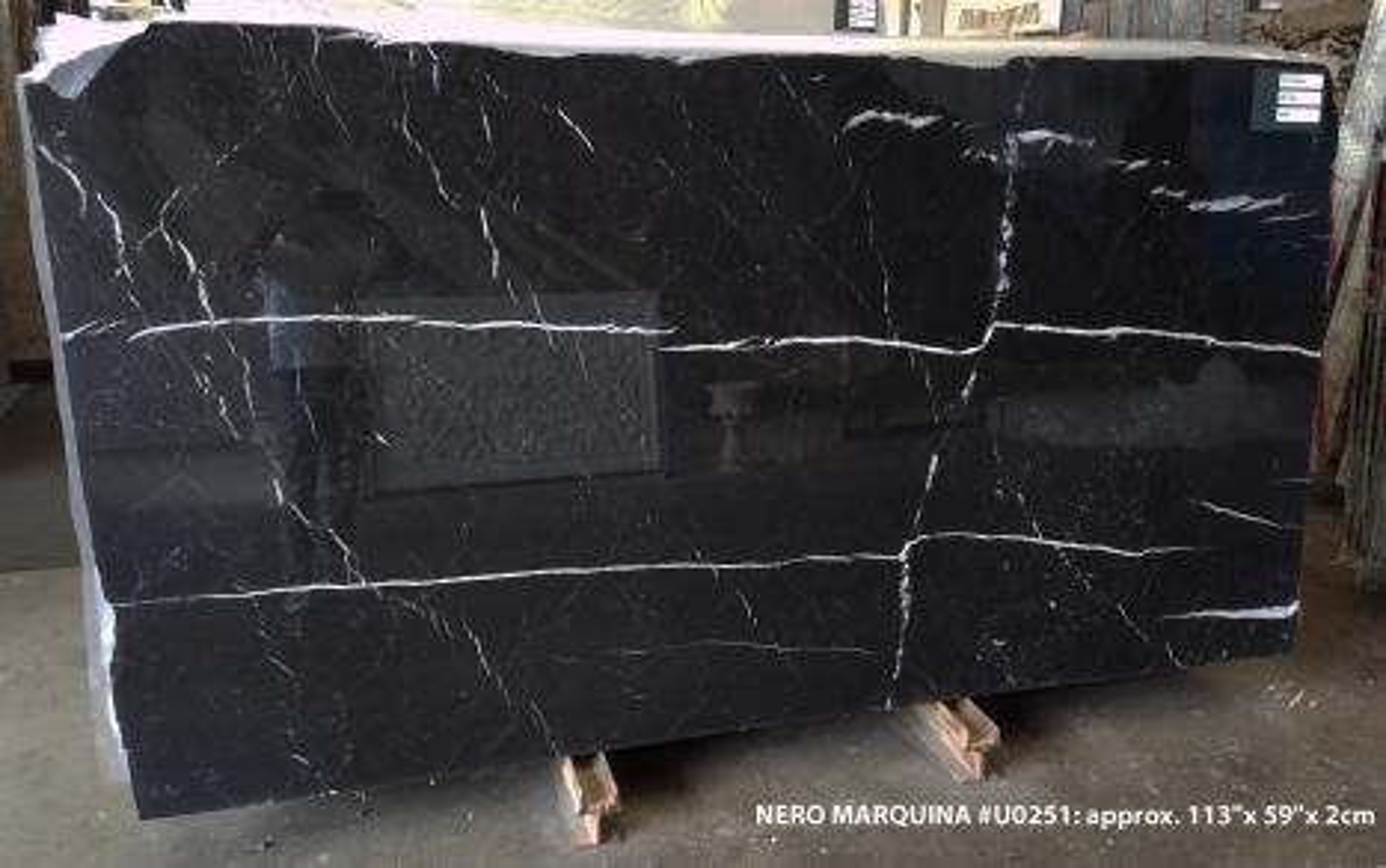 NERO MARQUINA Suministro Veneto (Italia) de planchas pulidas en mármol natural U0251 , SL2CM
