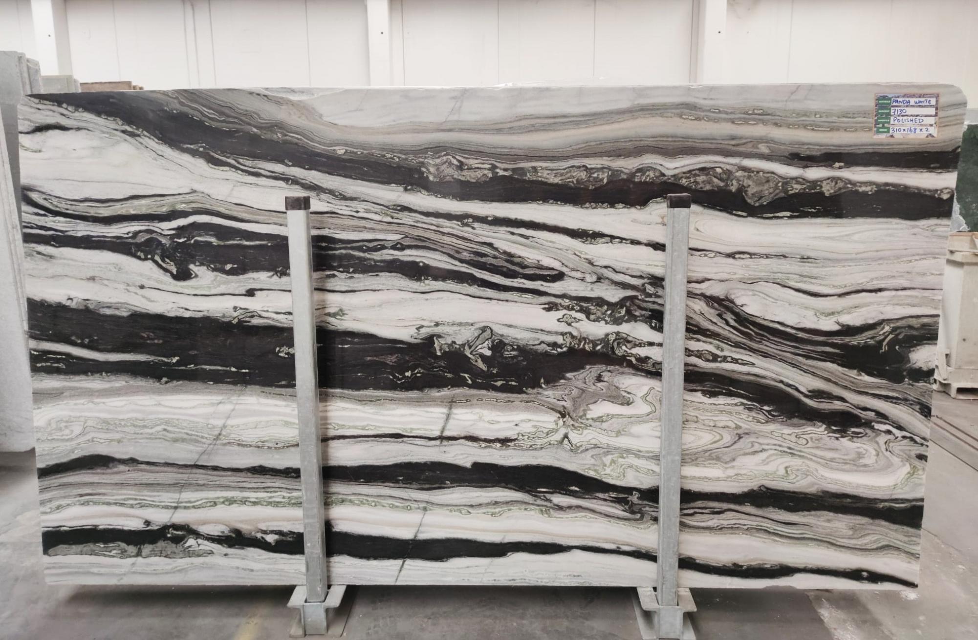 PANDA GREY Suministro Veneto (Italia) de planchas pulidas en mármol natural D-7130 , SL3CM