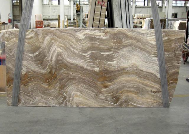 TRAVERTINO SILVER Suministro Veneto (Italia) de planchas pulidas en travertino natural C-945