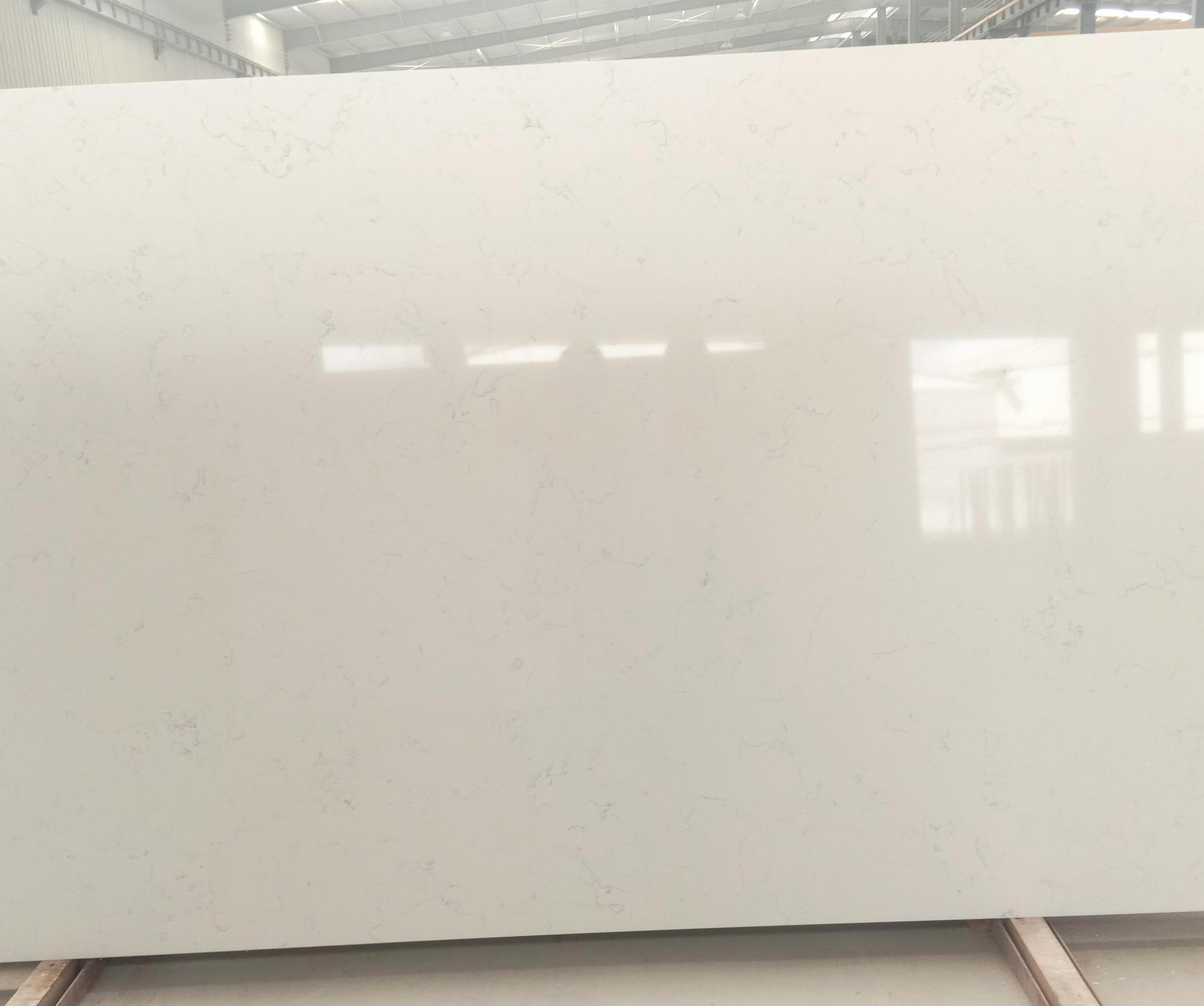 Venetian White Suministro Hai Phong (Vietnam) de planchas pulidas en cuarzo aglomerado artificial 6302 , SL3CM