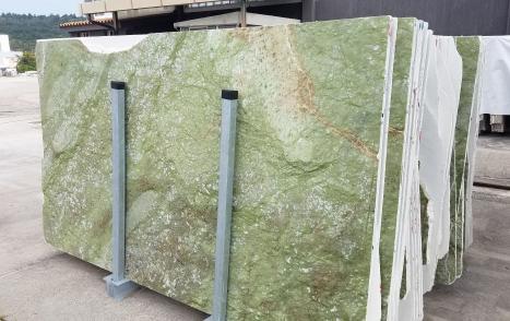 VERDE MING 73 planchas mármol chino pulido Slab #12,  284 x 164 x 2 cm piedra natural (disponibles en Veneto, Italia)