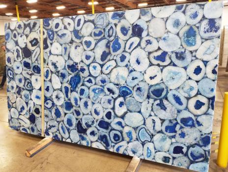 AGATA BLUE 12 planchas piedra semi preciosa brasileña pulida Jumbo size,  800.1 x 457.2 x 5.1 cm piedra natural (disponibles en California, Estados Unidos)