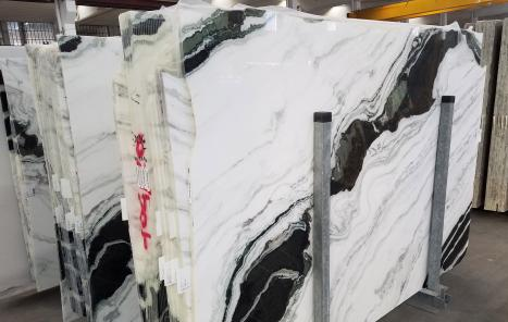 PANDA 18 planchas mármol chino pulido SL1,  261.6 x 175.3 x 2 cm piedra natural (disponibles en Veneto, Italia)