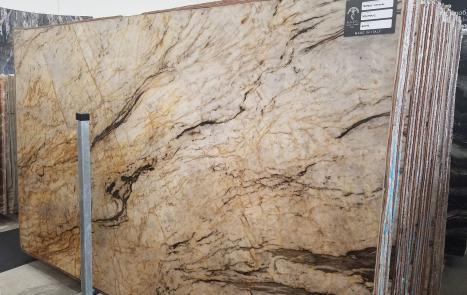 TEMPEST CRISTALLO 39 planchas cuarcita brasileña pulida SL2CM,  326 x 194 x 2 cm piedra natural (disponibles en Veneto, Italia)