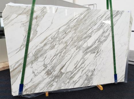 CALACATTAplancha mármol italiano pulido C - slab #22,  300 x 200 x 3 cm piedra natural (disponible en Veneto, Italia)