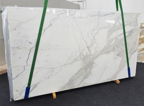 CALACATTA EXTRAplancha mármol italiano pulido Slab #63,  350 x 195 x 2 cm piedra natural (vendida en Veneto, Italia)
