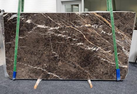 MARRON IRISplancha mármol español pulido Slab #18,  290 x 160 x 2 cm piedra natural (disponible en Veneto, Italia)