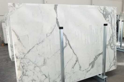 STATUARIO VENATO 8 planchas mármol italiano pulido Bundle #5,  265 x 178 x 2 cm piedra natural (disponibles en Veneto, Italia)