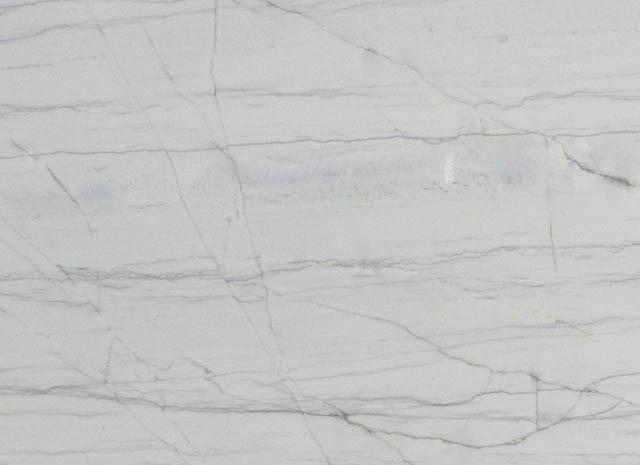 Detallo técnico: MACAUBAS WHITE, cuarcita natural pulida brasileña