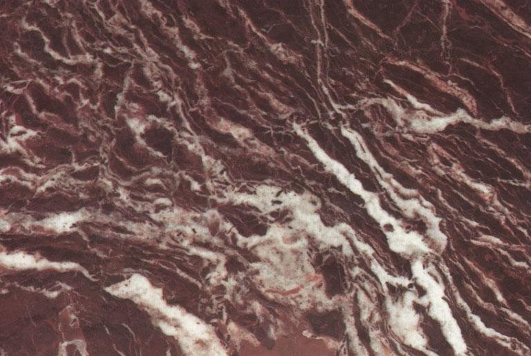 Detallo técnico: ROSSO LEVANTO, mármol natural pulido italiano