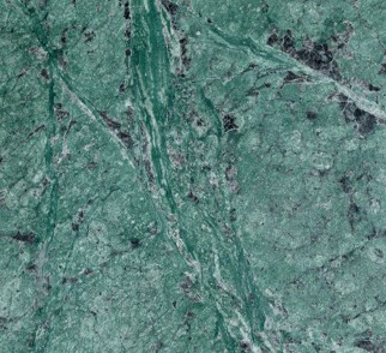 Detallo técnico: TULIKIVI GREEN, mármol natural pulido de Fiyi