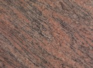 Detallo técnico: TIGER RED, granito natural pulido brasileño
