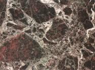 Detallo técnico: ROSSO ANTICO ITALIA, mármol natural pulido italiano