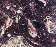 Detallo técnico: ROSSO LEVANTO R1055, mármol aglomerado artificial pulido italiano