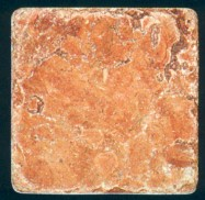 Detallo técnico: ROSSO ASIAGO, mármol natural tamboleado italiano